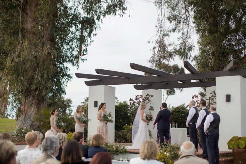 boho classic California wedding, wedding ceremony