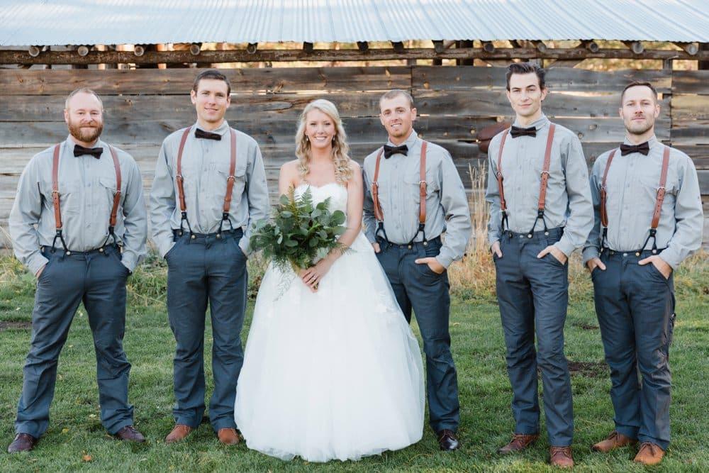 bride and groomsen