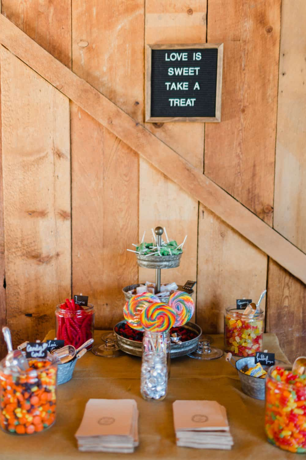 diy wedding decor, diy wedding favors, wedding candy table