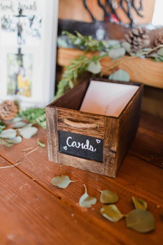 diy wedding decor, wedding cards box