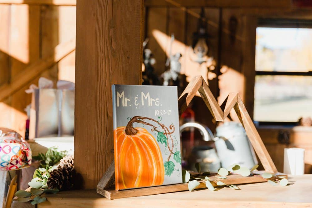 diy fall wedding decor