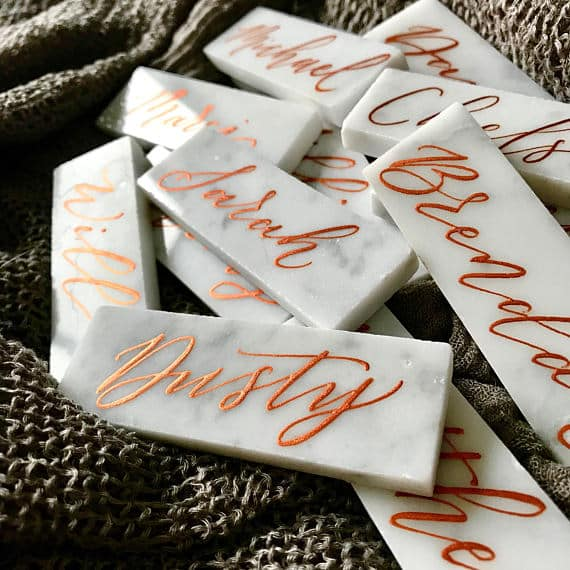 Marble Place Cards by LettersFromEden