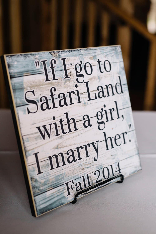 creative wedding details, personalized wedding sign