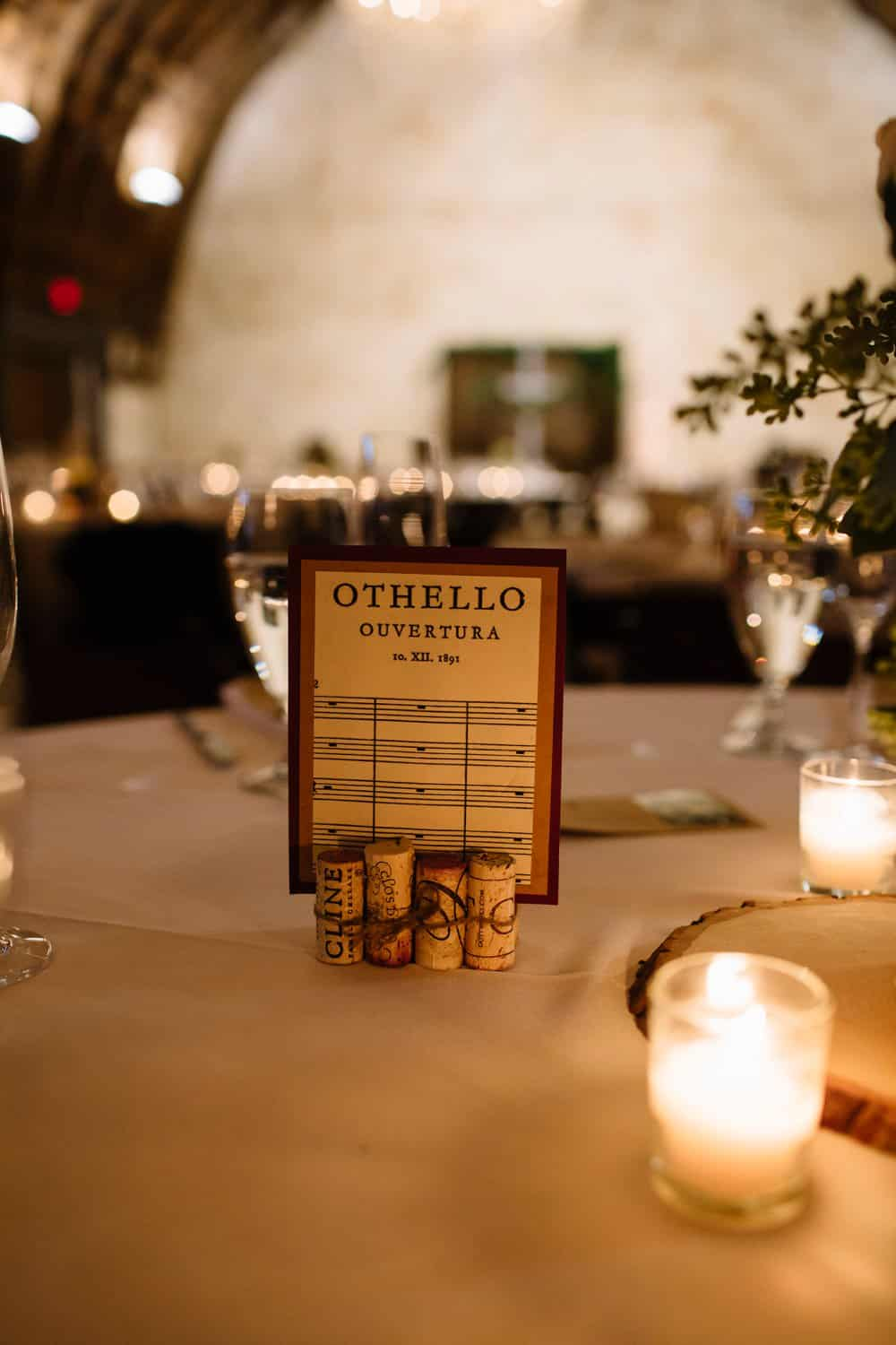 music themed wedding decor