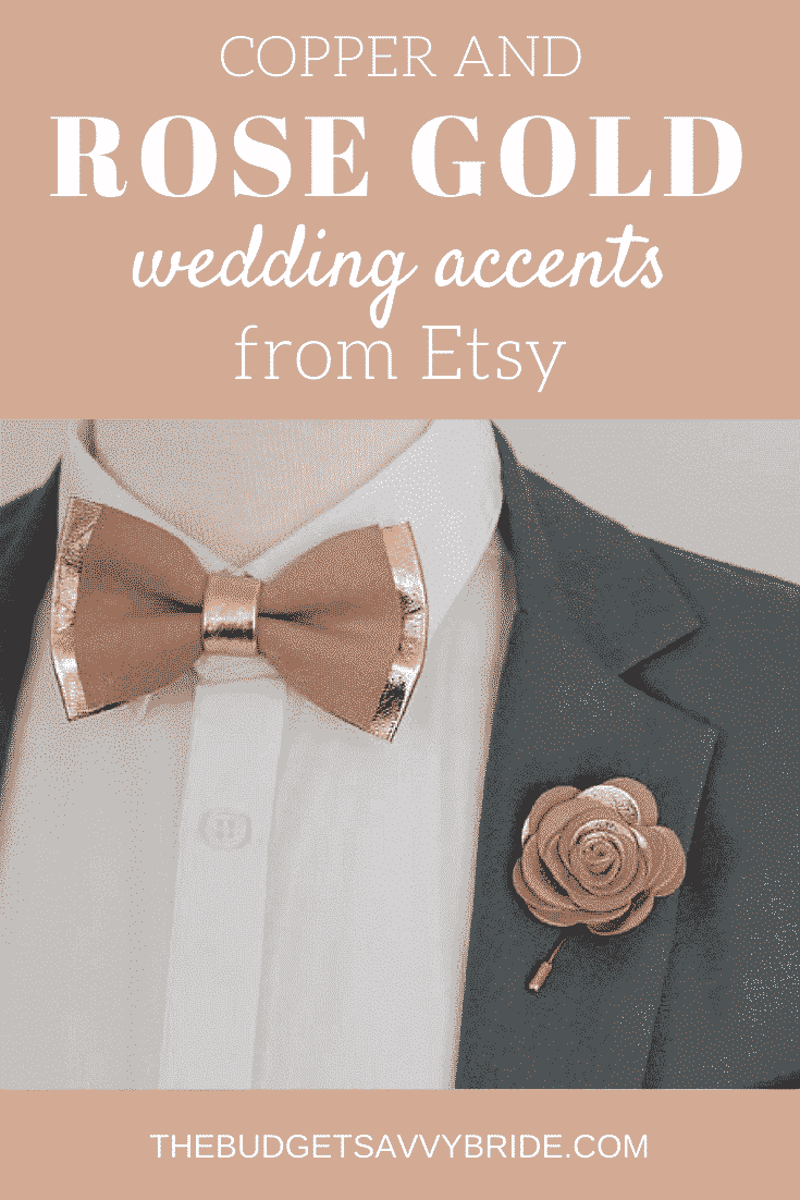 Rose gold and copper wedding accents are the latest trends in weddings. Take a look at our top picks from Etsy featuring these gorgeous colors.
