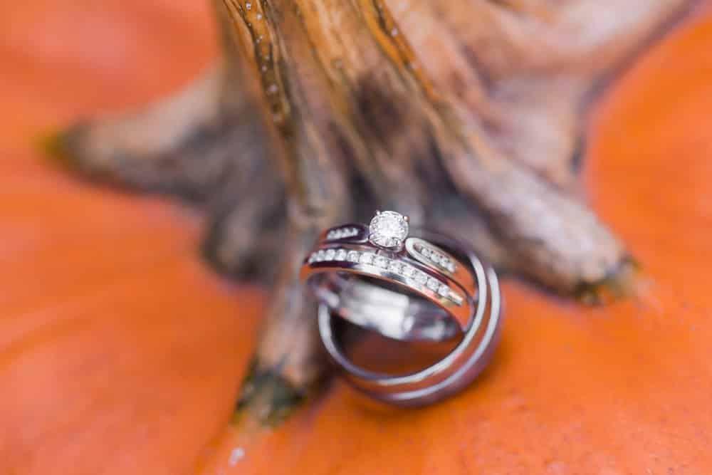 ring shot, pumpkin decor, lake anna wedding