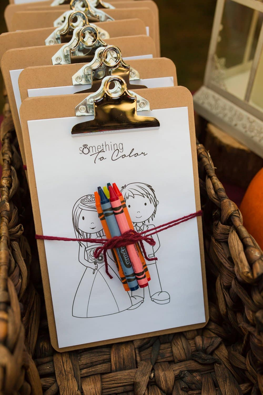 diy wedding details, kids table