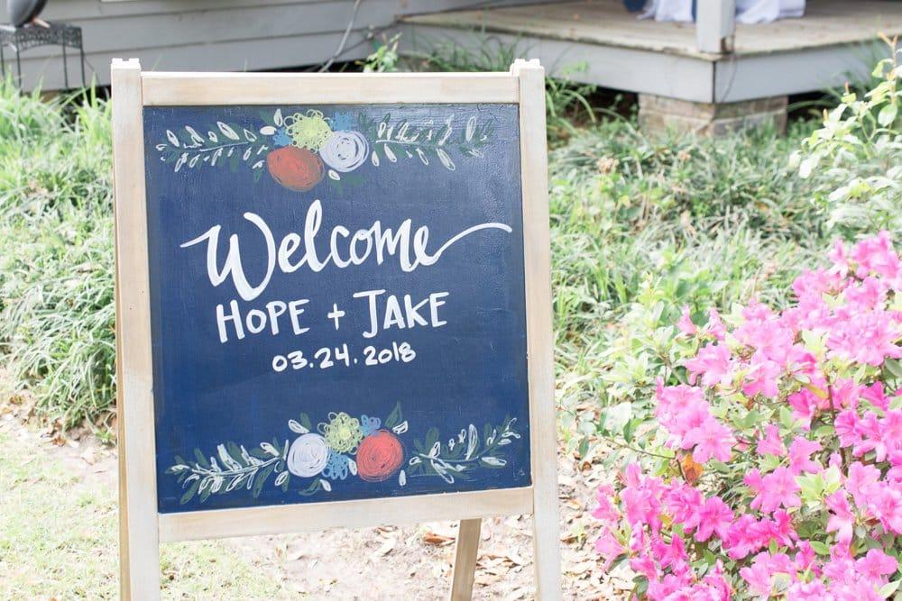 charming cottage wedding sign