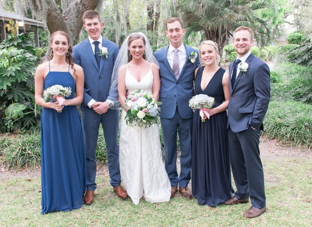 charming cottage wedding bridal party