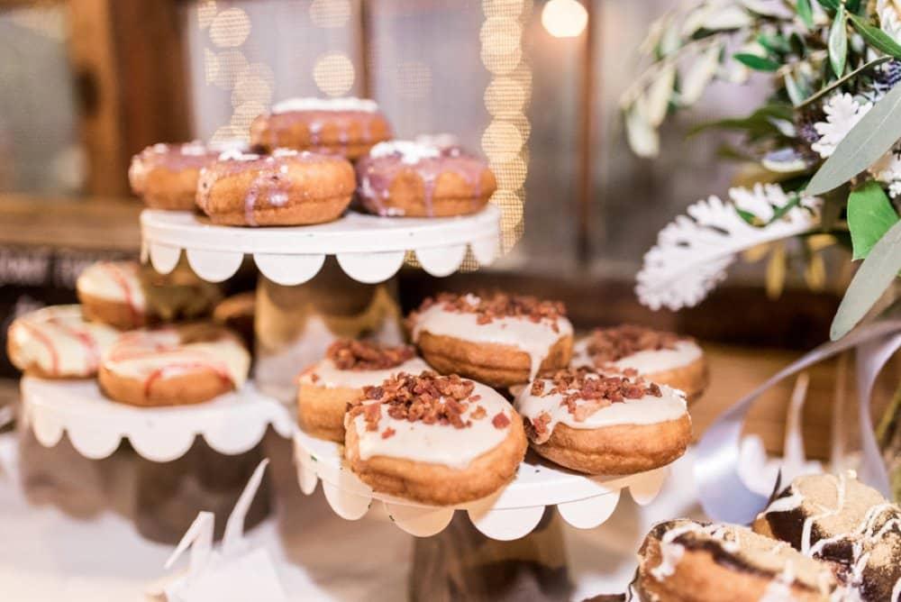 diy dessert table, donut bar, wedding photos