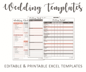 savvy spreadsheets wedding templates