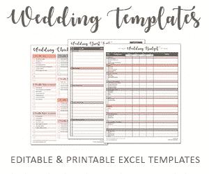 savvy spreadsheets wedding templates