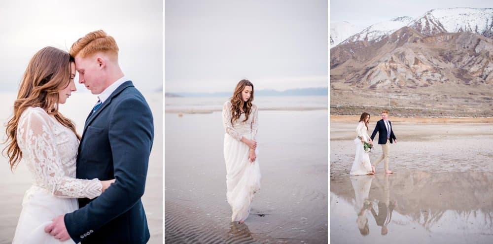golden hour wedding shoot