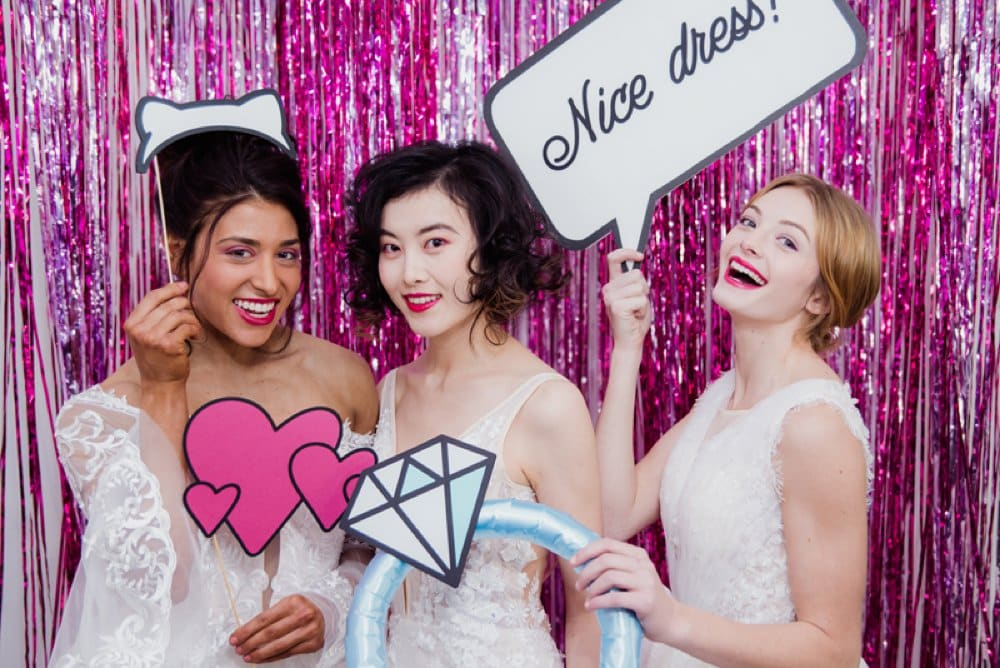 Lyra Veda Bridal Trunk Show, photobooth