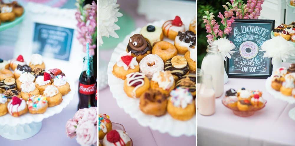 all you need is love and a donut styled shoot, donuts