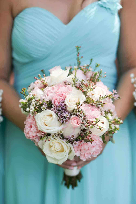 Tiffany blue and blush summer wedding the budget savvy bride tiffany blue bridesmaids bridesmaid style izmirmasajfo