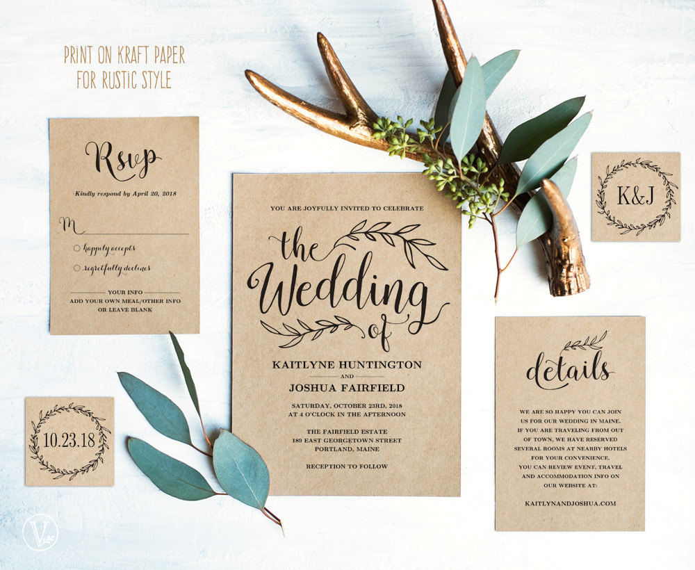23 Gorgeous Printable Wedding Invitations for DIY Weddings