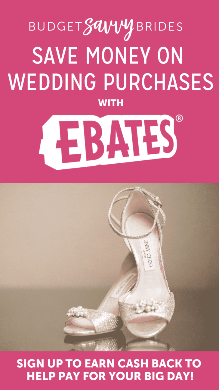 Save money on wedding purchases when you shop with Ebates