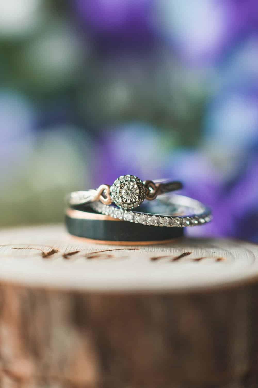CA Rustic Spring Wedding, ring shot