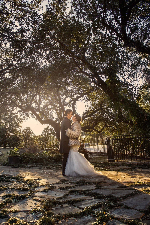 bride and groom, couple shots, winter wedding