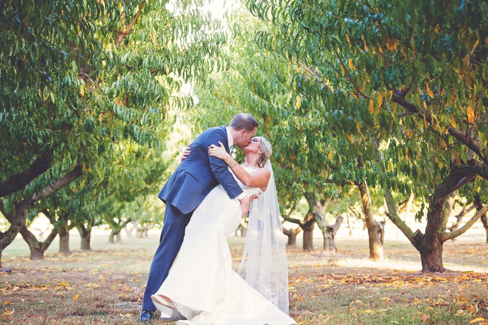 Sweet and Simple Peach Orchard Wedding
