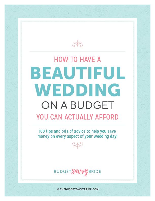 Budget Savvy Bride FREE E-book