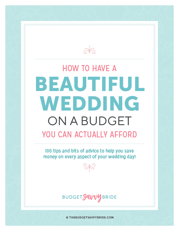 wedding budgets the budget savvy bride