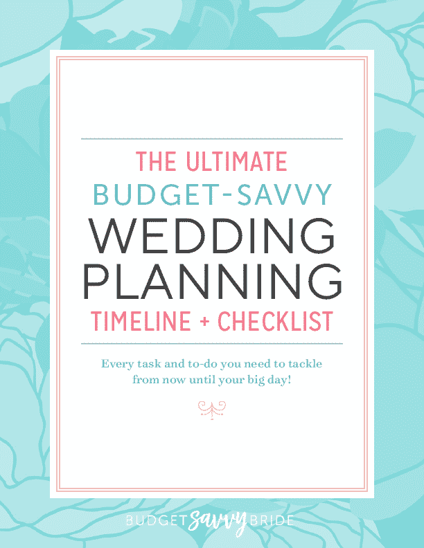 Budget Savvy Wedding Planning Timeline and Checklist