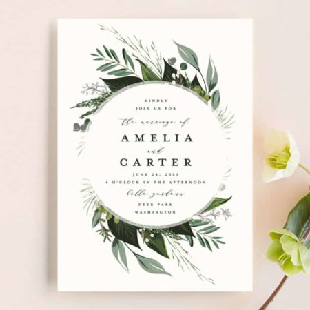 Natures Greens Wedding Invitations