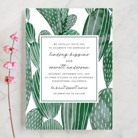 Painted Cacti Wedding Invitations