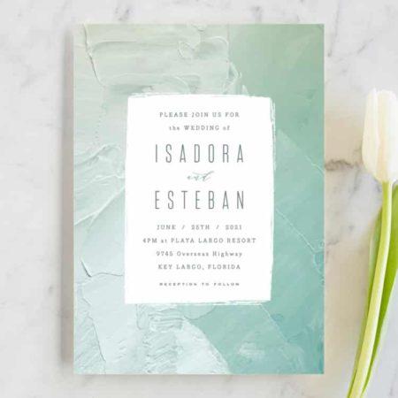 Painted Sea Wedding Invitations