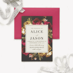 Rose Floristry Wedding Invitations