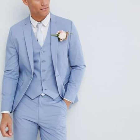 Stretch Cotton Skinny Suit