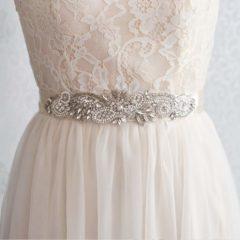 Bridal Belt with Rhinestone Embellishment