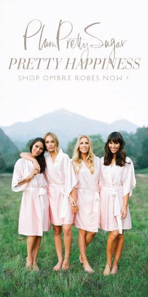 Plum Pretty Sugar Bridesmaids Robes, Pajamas and getting ready wear