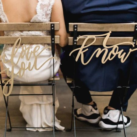 Laser Cut Wedding Chair Signs