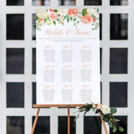 Printable Wedding Seating Chart
