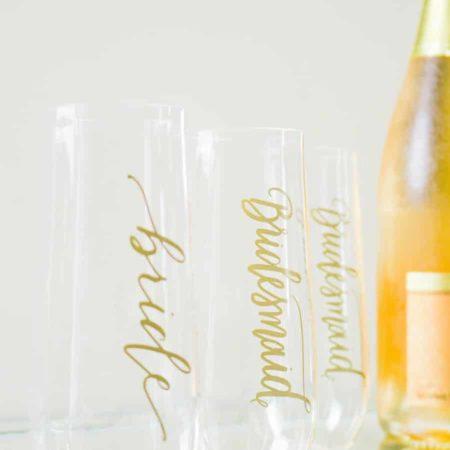 Plastic Champagne Flutes - Samantha Margaret