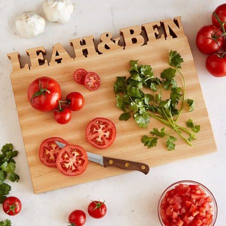 cutting board - personalized gifts for couples