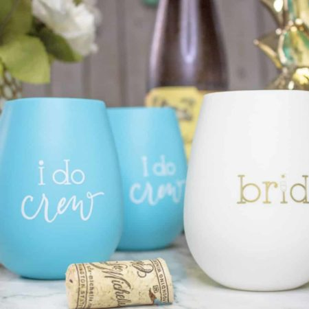 I Do Crew Silicone Wine Cups