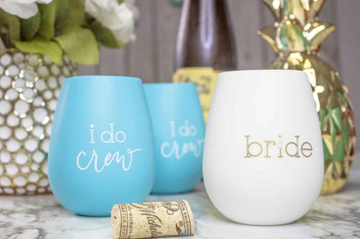 I Do Crew Silicone Wine Cups