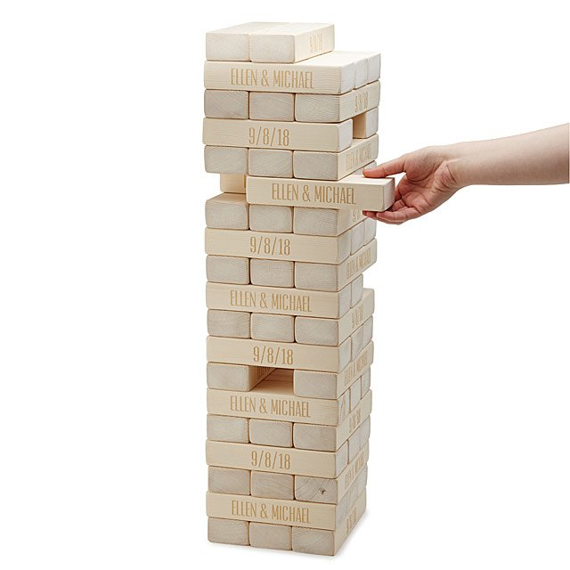 customized jenga - personalized gifts for couples