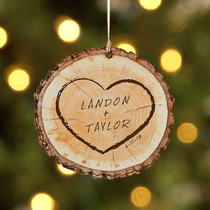 Christmas ornament - personalized gifts for couples