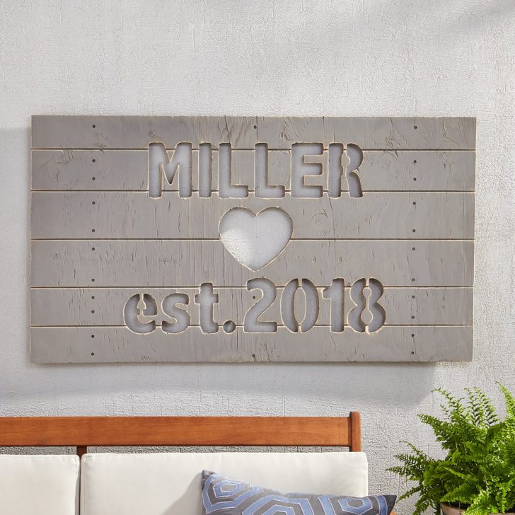custom sign - personalized gifts for couples
