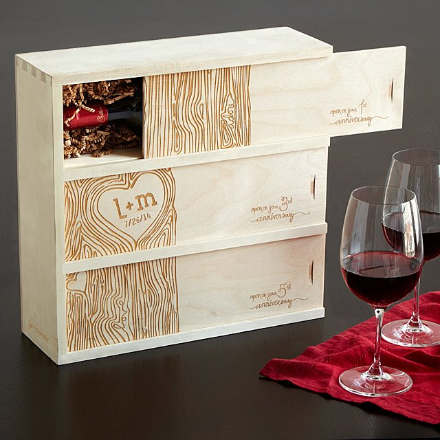 wine box - personalized gifts for couples