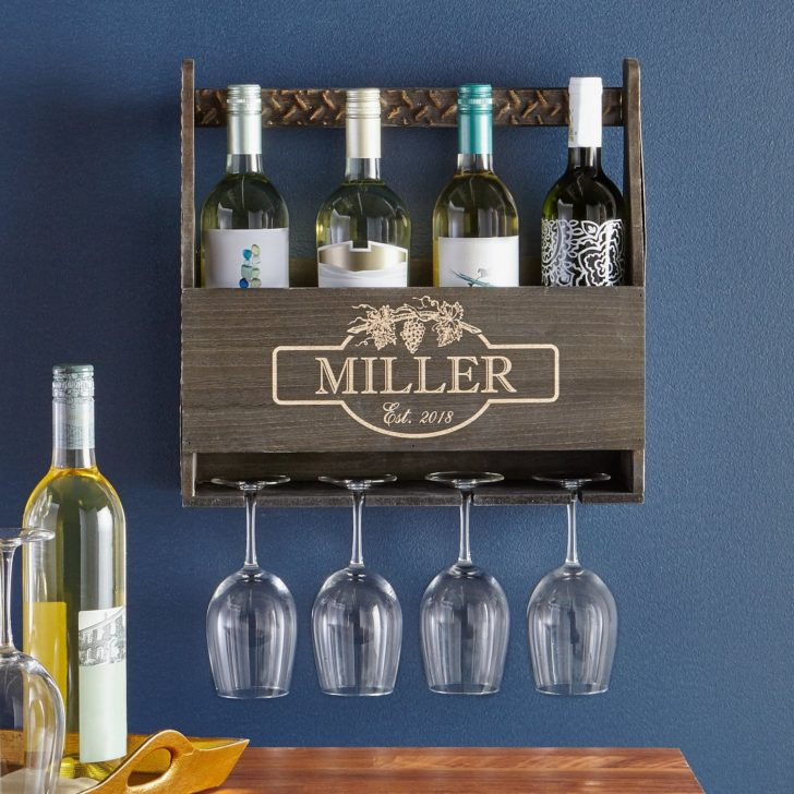rustic wine rack - personalized gifts for couples