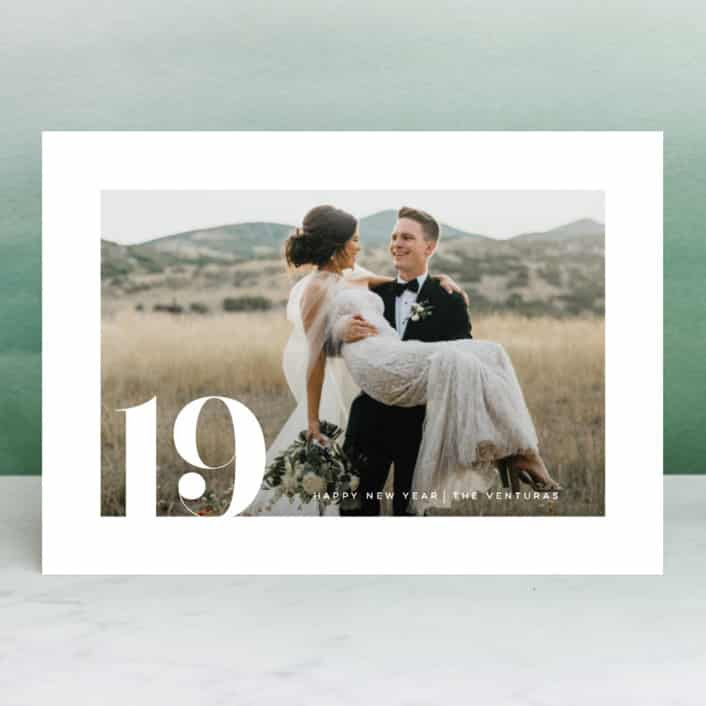 newlywed new year cards