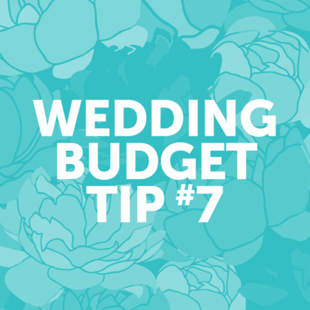 Wedding Budget Tip #7: Choose a simple cake design.