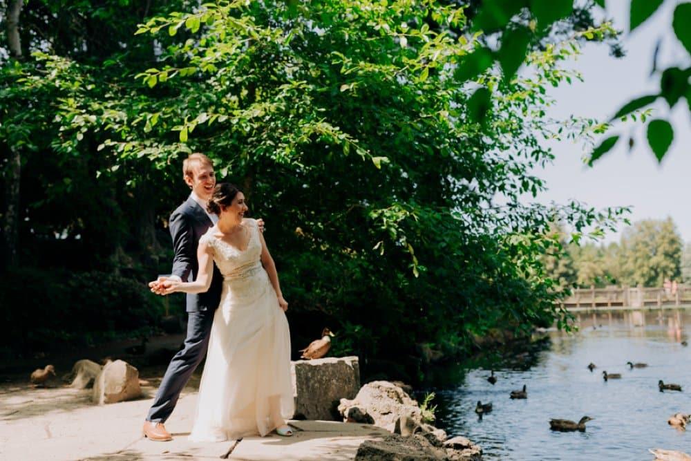 Playful Pond and Garden Wedding