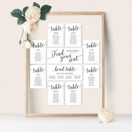 Wedding Seating Charts